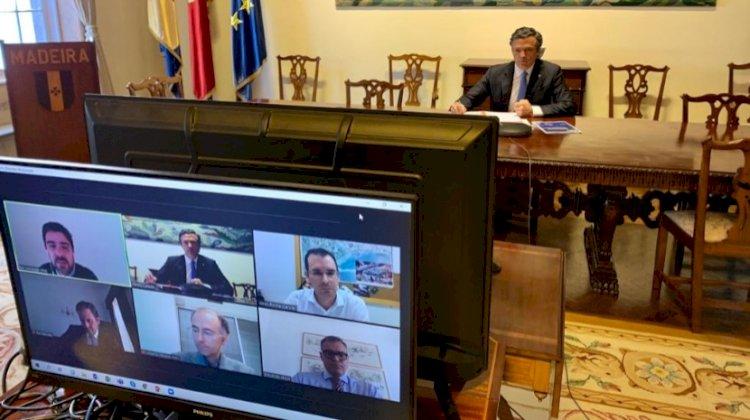 Pedro  Calado reuniu-se com diretores do Madeira Shopping, La Vie e Fórum Madeira